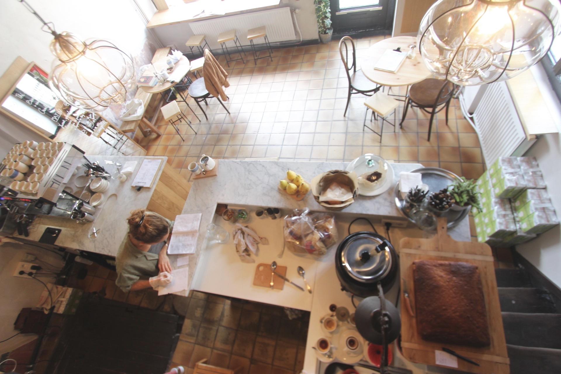 Grand Maison Liège, prendre un café en bord de meuse