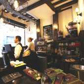 chocolat et café à emporter, équitable, rue du palais, liege